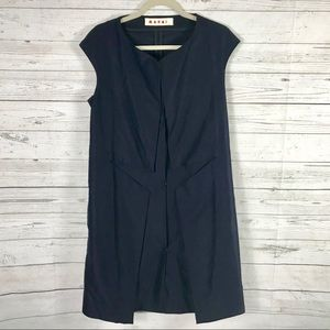 Marni Deep Blue Dress Vest Sz 40 US 6